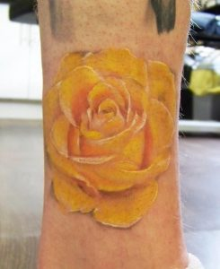 Yellow Rose Tattoo Men