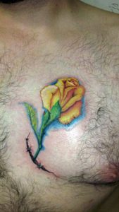 Yellow Rose Tattoo Pictures