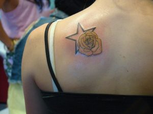 Yellow Rose Tattoo Small