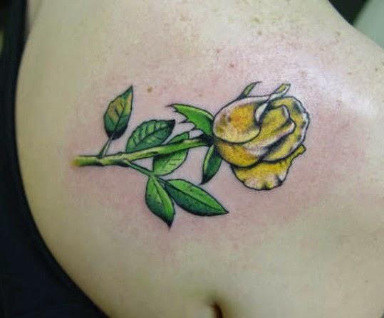 Small Tattoo Yellow