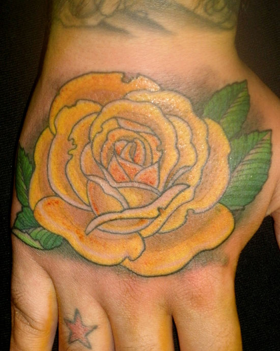 Yellow rose tattoos designs ideas and meaning tattoos for Yellow rose tattoo