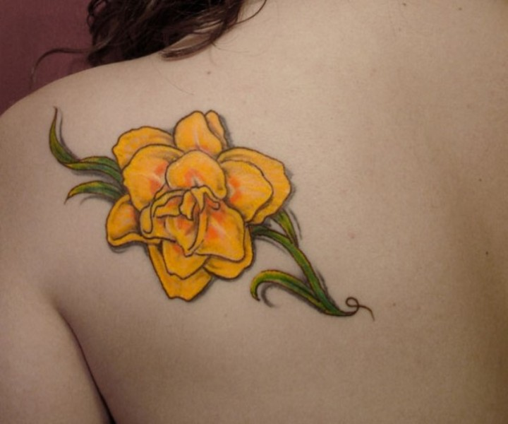 Yellow Rose Tattoos Designs, Ideas And Meaning