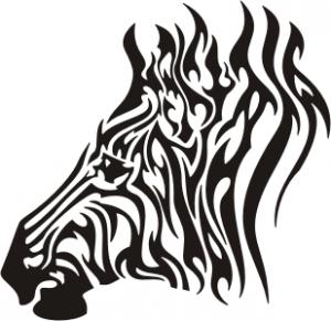 Zebra Tribal Tattoo