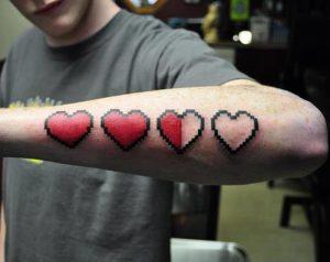 Zelda Heart Tattoo