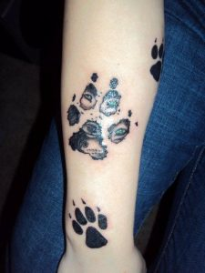 Dog Paw Print Tattoos Designs Ideas And Meaning Tattoos For You