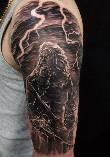 Zeus tattoos designs ideas and meaning tattoos for you for God s son tattoo