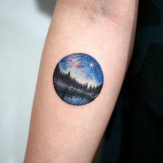 Starry Night Tattoos Designs, Ideas And Meaning