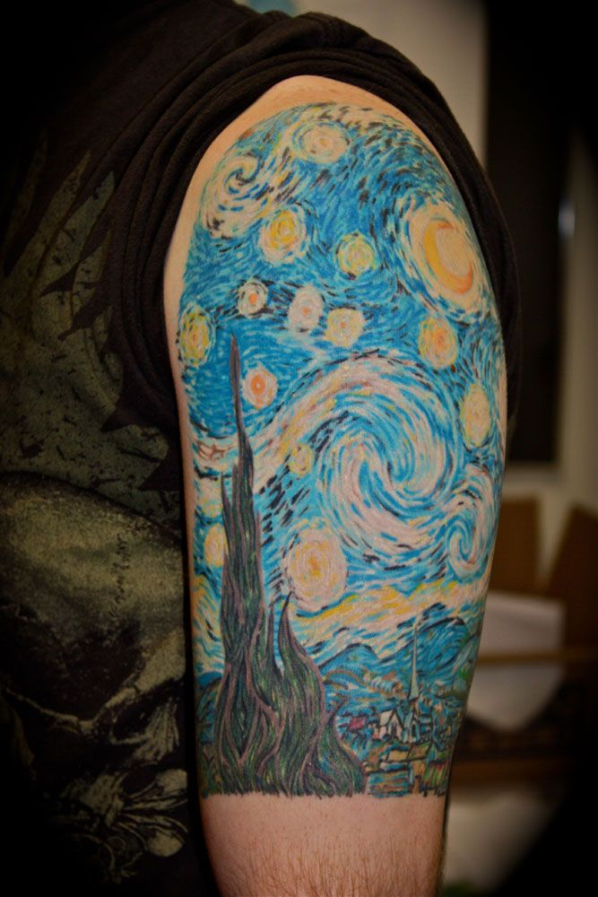 starry night tattoos designs ideas and meaning tattoos