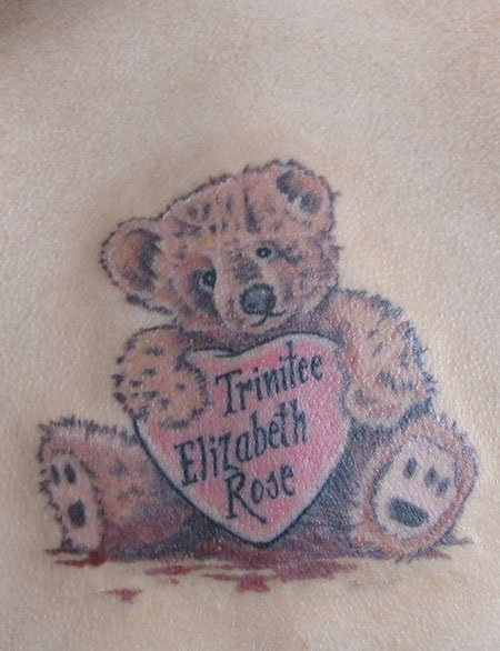 Bear Chest Tattoo Teddy Bear Tattoos Des...
