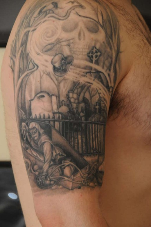 Graveyard Tattoos Designs, Ideas and Meaning | Tattoos For You