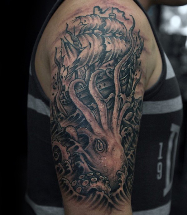 Half Sleeve Tattoos Designs Ideas And Meaning: Kraken Tattoos Designs, Ideas And Meaning