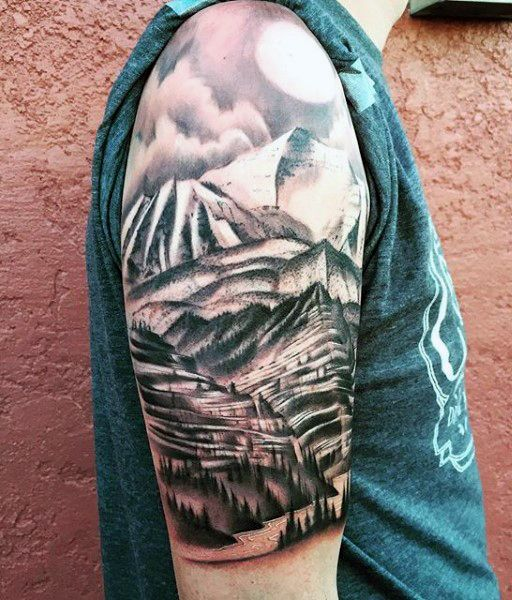 Mountain Tattoos Designs, Ideas And Meaning