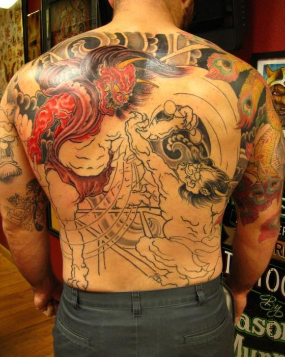 oni mask tattoos designs  ideas and meaning