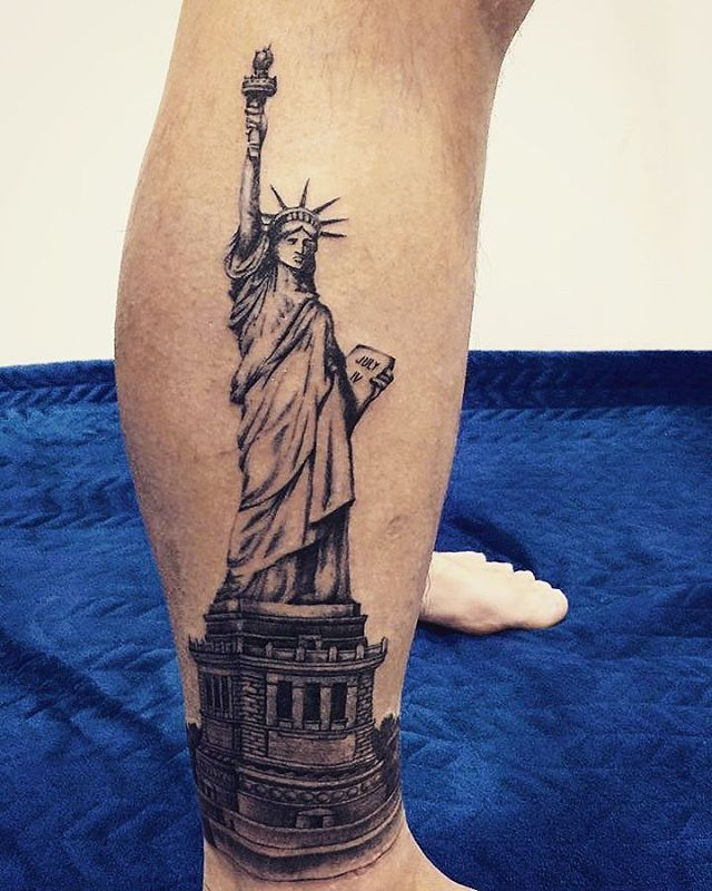 statue of liberty tattoos designs ideas and meaning tattoos for you. Black Bedroom Furniture Sets. Home Design Ideas
