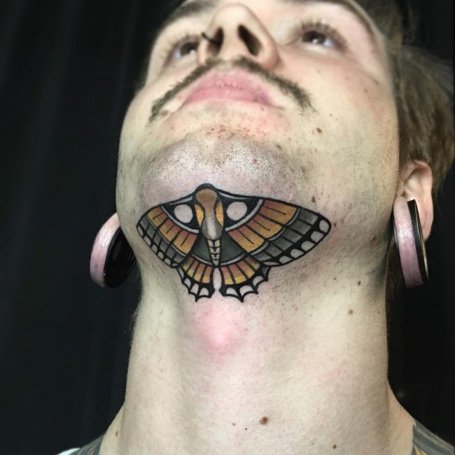 Throat Tattoos Designs, Ideas And Meaning