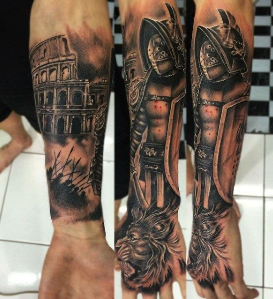 27 Forearm Tattoo Design Ideas: Gladiator Tattoos Designs, Ideas And Meaning