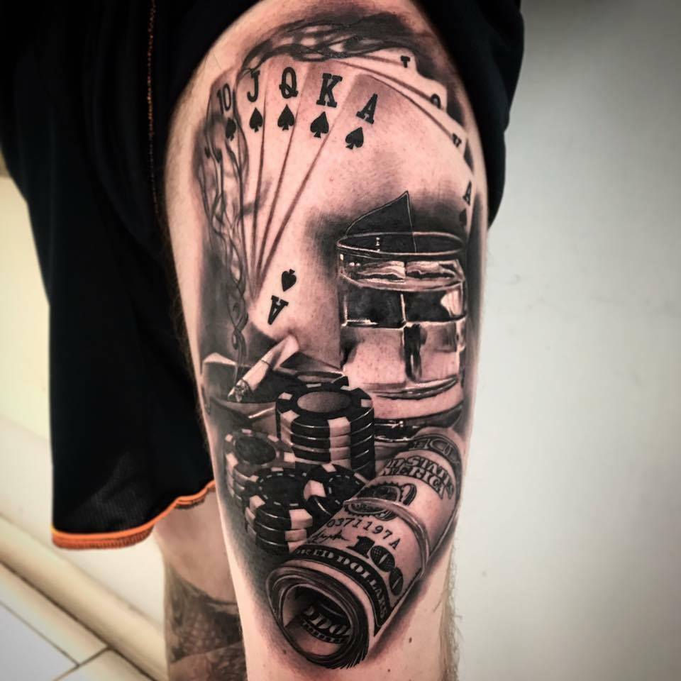 Gambling Tattoos Designs, Ideas And Meaning