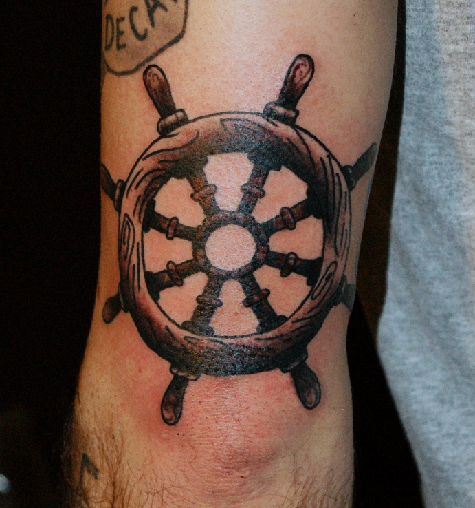 Underarm Tattoos Designs Ideas And Meaning: Ship Wheel Tattoos Designs, Ideas And Meaning