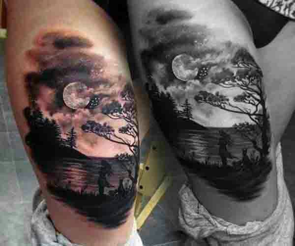 Moon And Cloud Tattoo Small: Sky Tattoos Designs, Ideas And Meaning