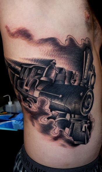 Small Engine Tattoo: Train Tattoos Designs, Ideas And Meaning