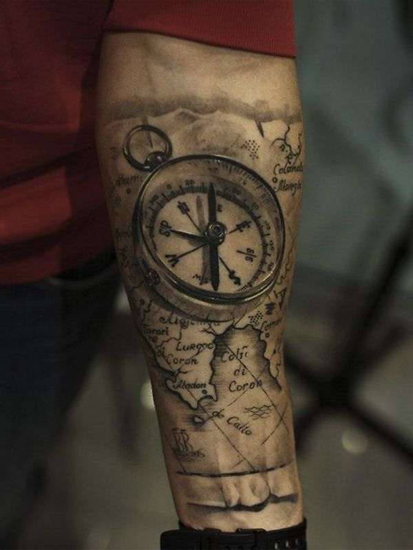 Compass Tattoos for Men Designs, Ideas and Meaning | Tattoos For You
