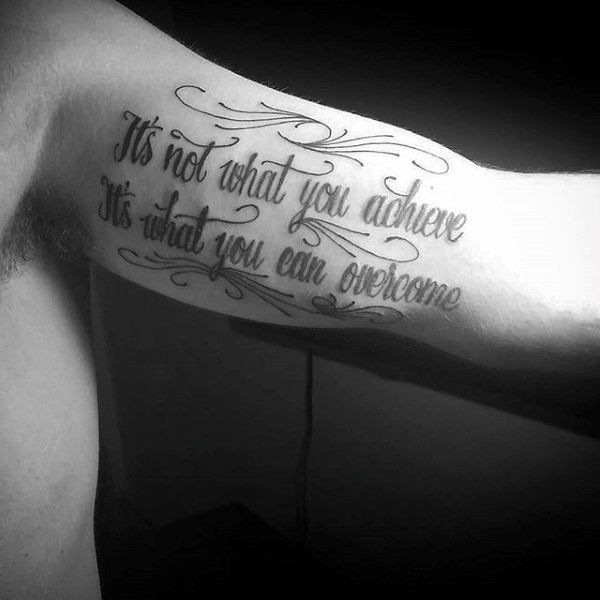 Quote Tattoos for Men Designs, Ideas and Meaning | Tattoos ...