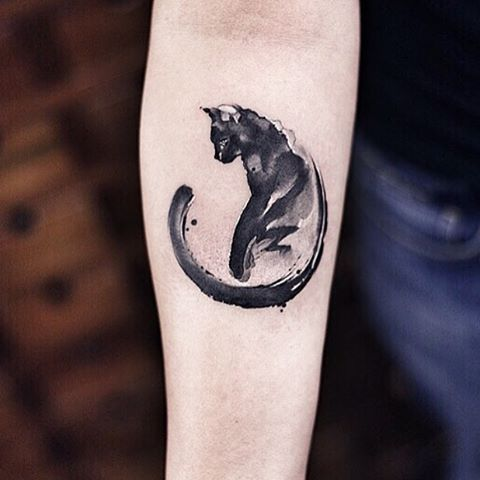Watercolor Cat Tattoo Designs Ideas And Meaning Tattoos