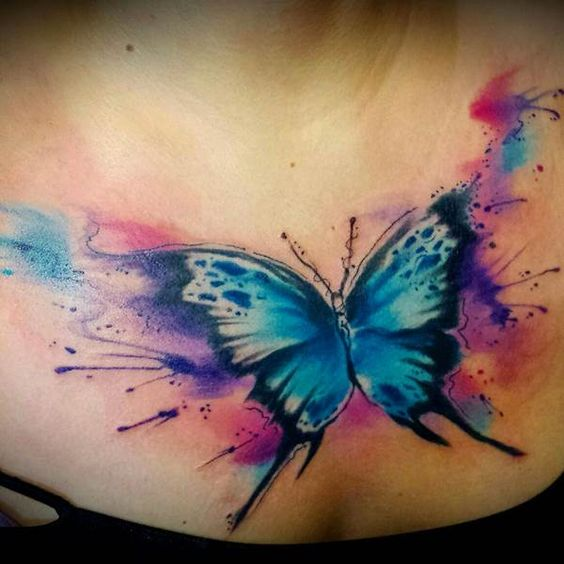 Watercolor Butterfly Tattoos: Watercolor Butterfly Tattoo Designs, Ideas And Meaning