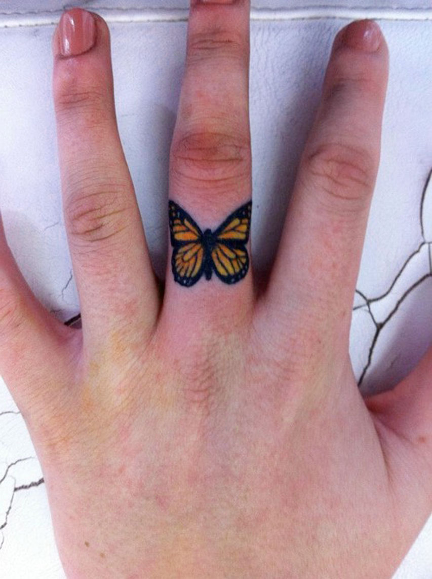 butterfly finger tattoo designs ideas and meaning tattoos for you. Black Bedroom Furniture Sets. Home Design Ideas