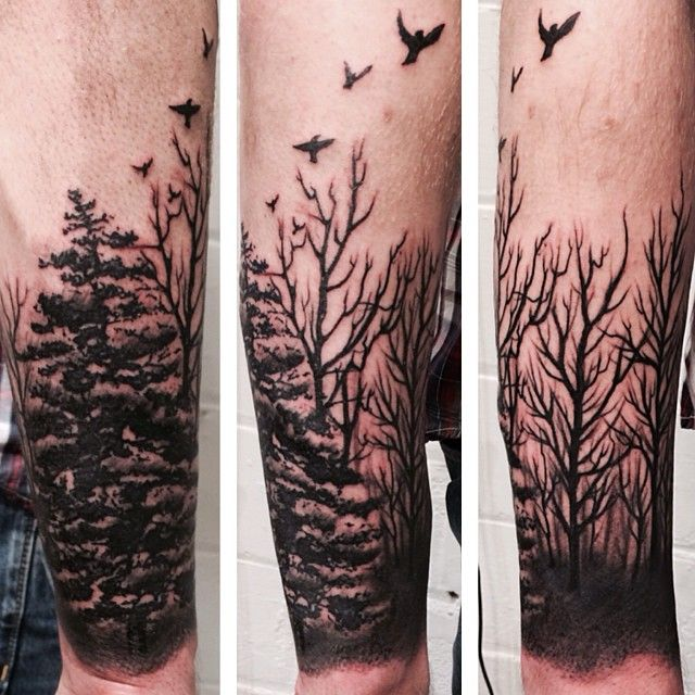 Marijuana Tattoos Designs Ideas And Meaning: Forest Sleeve Tattoo Designs, Ideas And Meaning