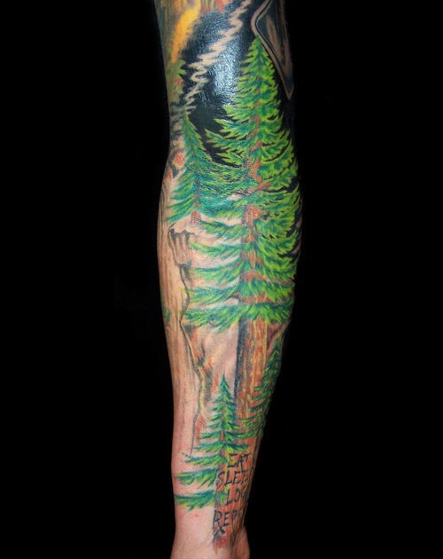 forest sleeve tattoo designs ideas and meaning tattoos. Black Bedroom Furniture Sets. Home Design Ideas