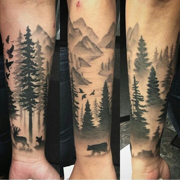 Forest Sleeve Tattoo D...