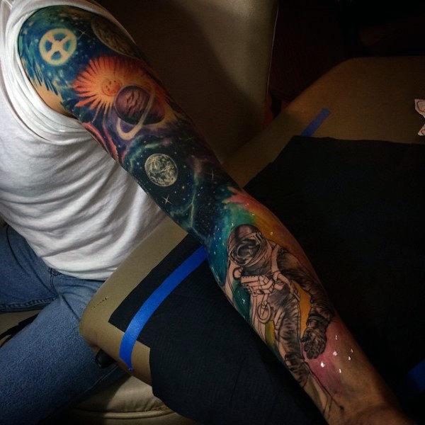 milky way galaxy tattoo sleeve - photo #19