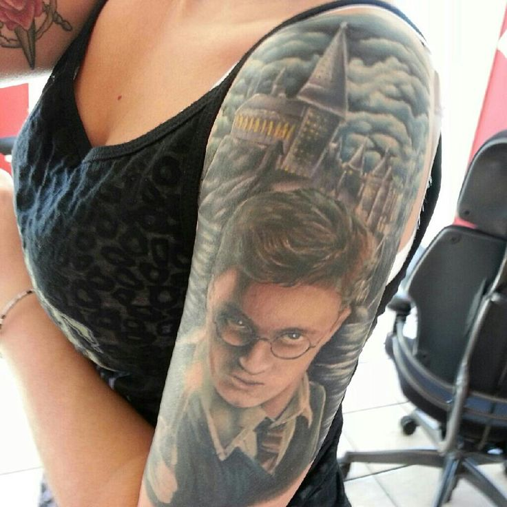Harry potter tattoo sleeve designs ideas and meaning for Harry potter sleeve tattoo