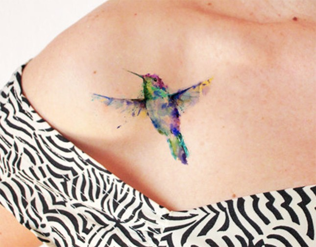 Watercolor Hummingbird Tattoo Designs, Ideas and Meaning | Tattoos ...
