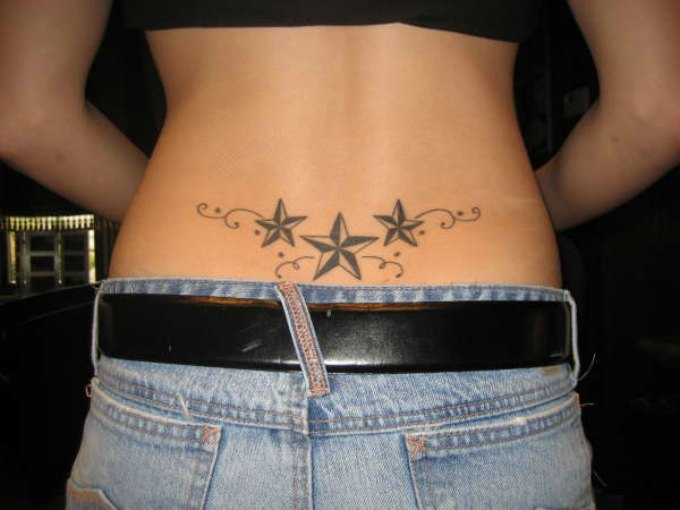 Sexy lower back tattoos for girls