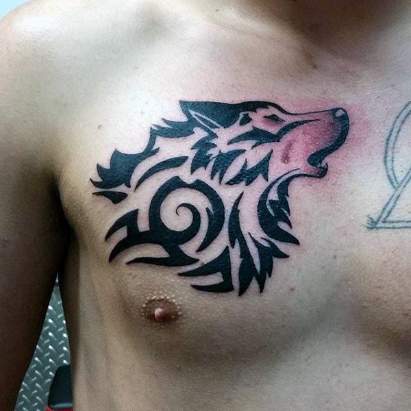 Chest Tattoos For Men Designs Ideas And Meaning: Wolf Chest Tattoo Designs, Ideas And Meaning
