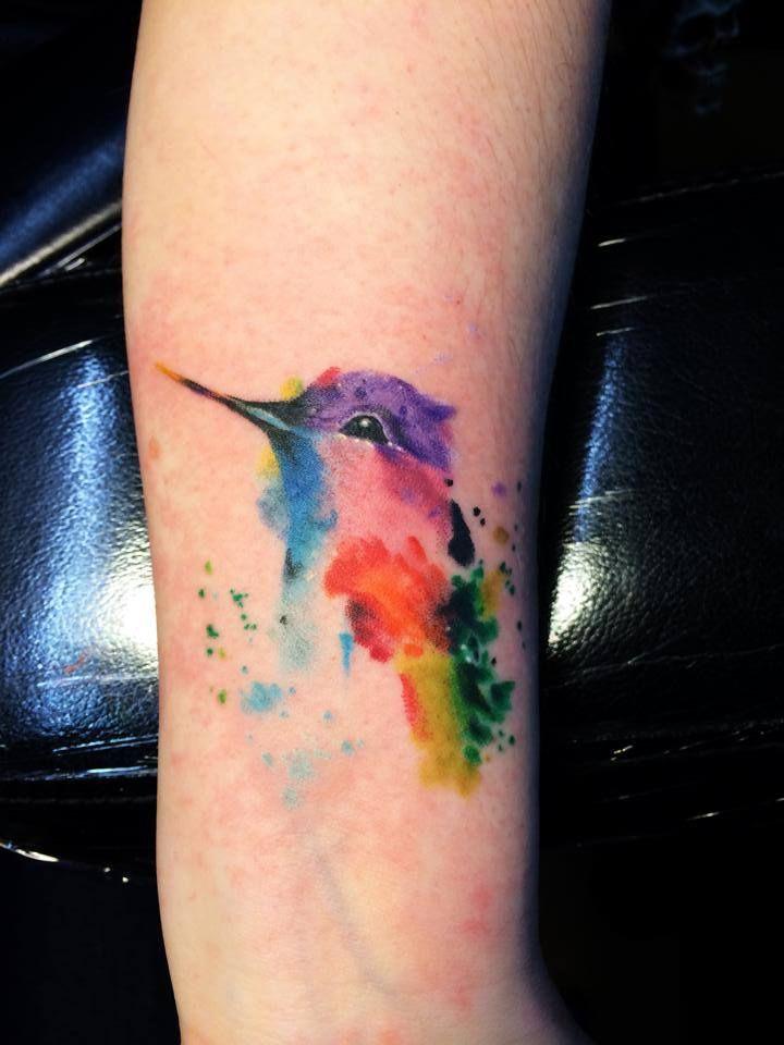 Hummingbird Tattoo On Wrist Watercolor Hummingbird...