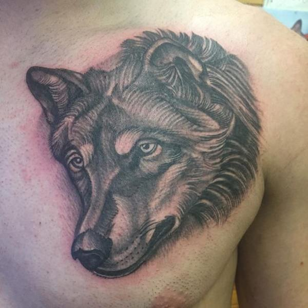 Wolf Tattoos Designs Ideas And Meaning: Wolf Chest Tattoo Designs, Ideas And Meaning