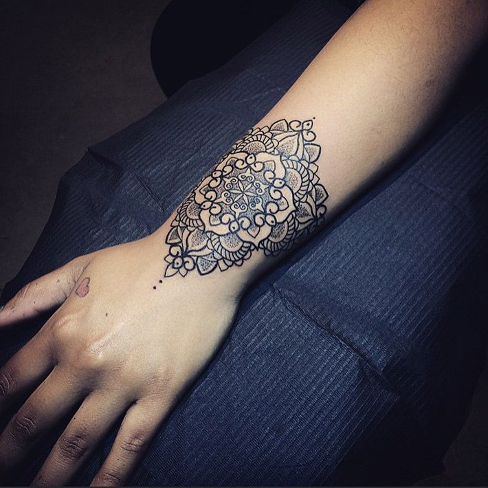 Small Wrist Tattoos Designs Ideas And Meaning: Mandala Wrist Tattoo Designs, Ideas And Meaning