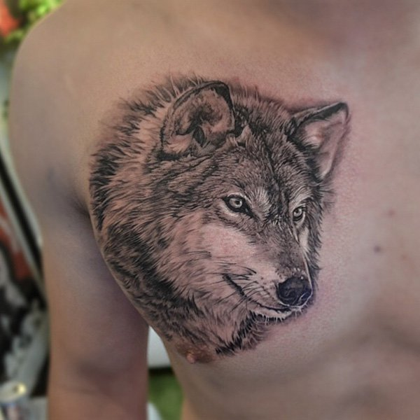 Wolf Chest Tattoo Designs Ideas And Meaning Tattoos For You