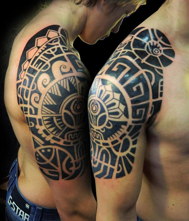 Aztec Shoulder Tattoo Designs Ideas And Meaning Tattoos
