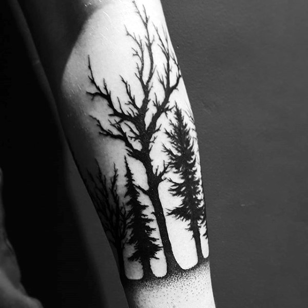 Forearm Forest Tattoo Designs, Ideas and Meaning | Tattoos For You