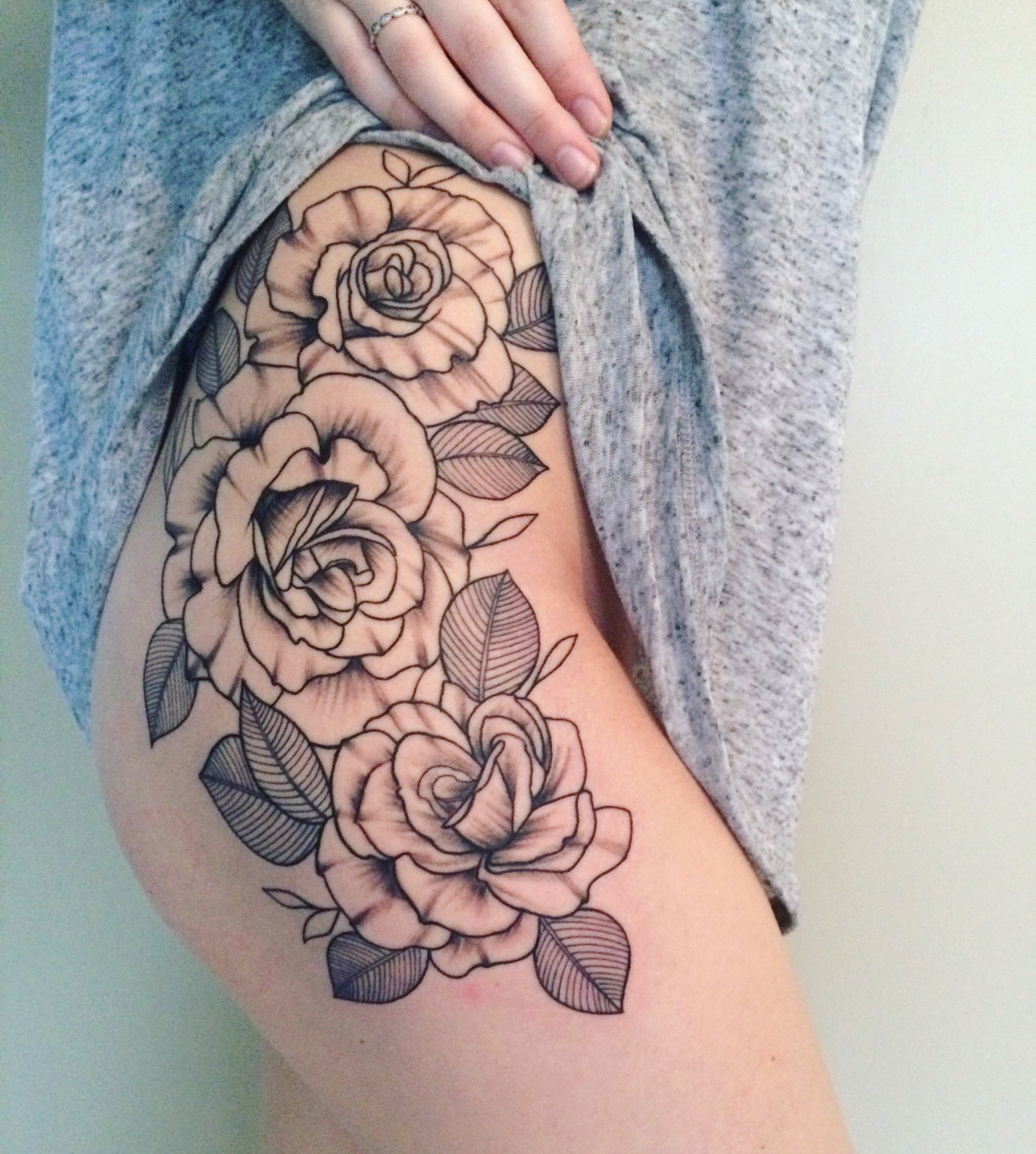 Flower thigh tattoos designs ideas and meaning tattoos for you izmirmasajfo Choice Image