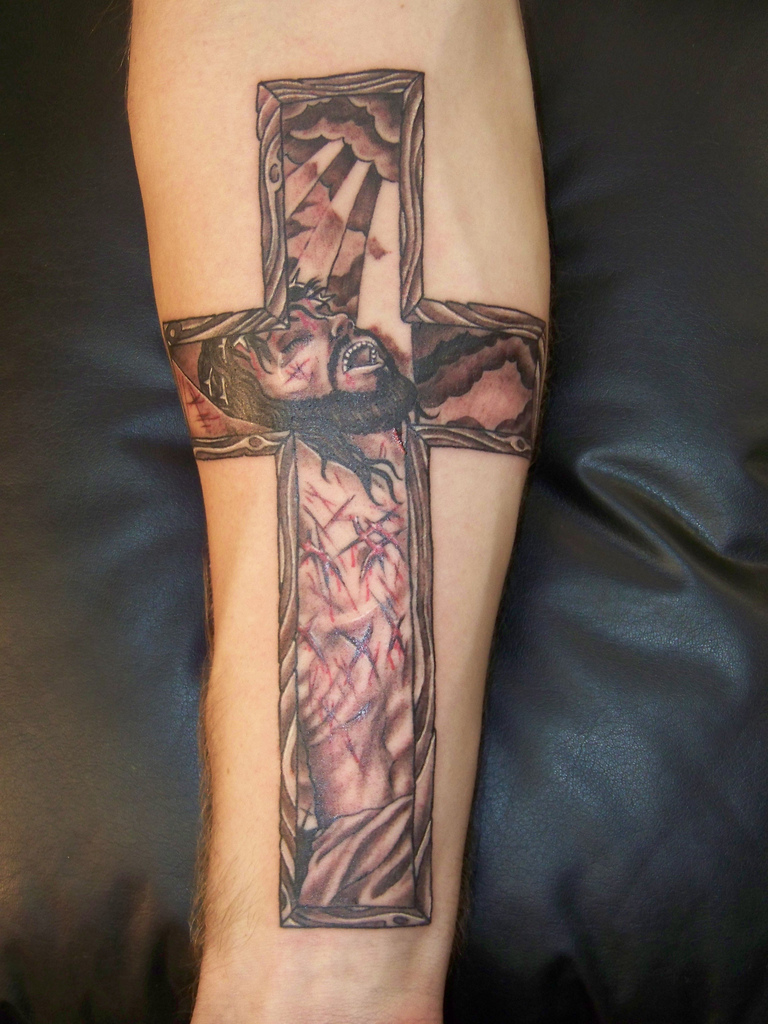 forearm cross tattoos designs ideas and meaning tattoos for you. Black Bedroom Furniture Sets. Home Design Ideas