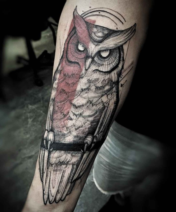 Owl Tattoo On Forearm Designs Ideas And Meaning Tattoos For You