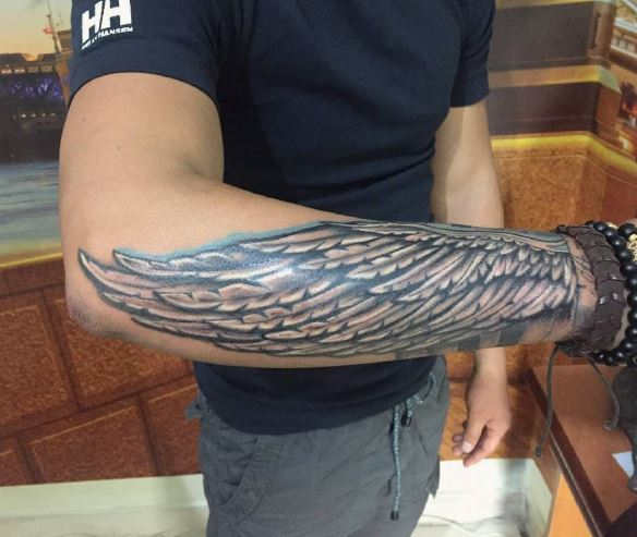 Forearm Wing Tattoo Designs, Ideas and Meaning   Tattoos For You