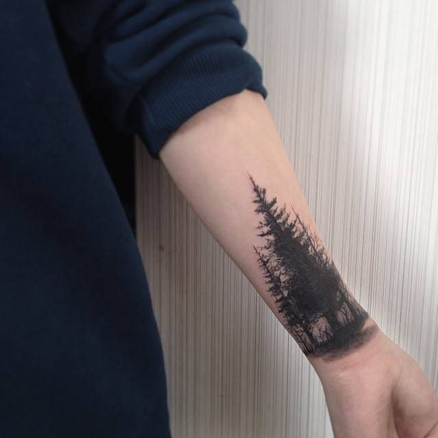 ffe1bca7e Forearm Forest Tattoo Designs, Ideas and Meaning | Tattoos For You