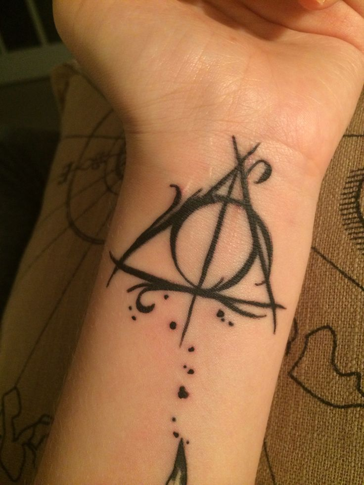 deathly hallows tattoo designs ideas and meaning tattoos for you. Black Bedroom Furniture Sets. Home Design Ideas