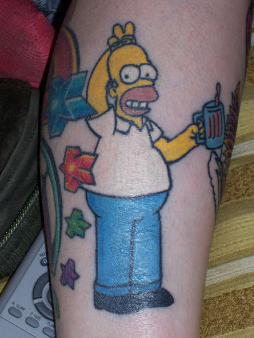 homer simpson tattoo designs ideas and meaning tattoos for you. Black Bedroom Furniture Sets. Home Design Ideas
